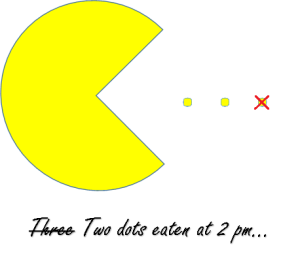 Pacman eating dots